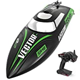VOLANTEXRC Brusheless RC Boat for Kids and Adults, 45km/h High Speed Remote Control Boat Vector SR48 with Self-Righting Reverse Function for Pools, Lakes & Rivers (797-3 RTR Brushless)