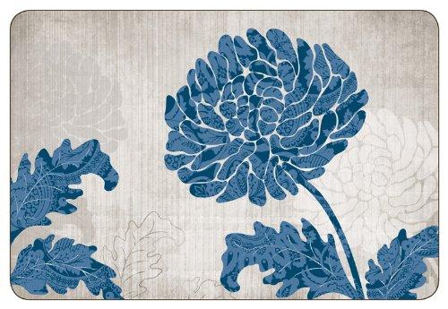 Jason Chrysanthemum Blue S/4 Placemats D6474