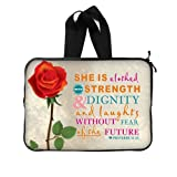 Bible Verse Laptop Bag - Hipster Bible Verse With Rose 15 15.6 inch Handle Laptop Sleeve Bags for Notebook,Macbook Pro,Macbook Air