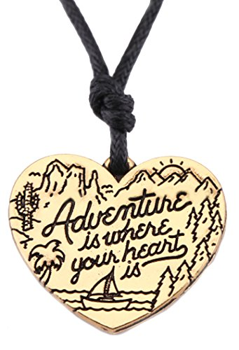 Sailboat Pendant (EUEAVAN Adventure is Where Your Heart is Sailboat Nautical Pendant Necklace for Outdoor Lovers)