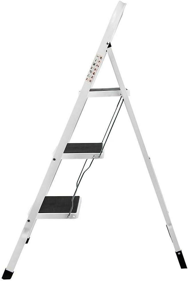 Leiter Stahl Trittleiter 2-stufig Leichtgewicht Modellauswahl Stehleiter Haushaltsleiter Klappleiter Klapptritt Malerleiter Klapptreppe,150 kg max Belastung