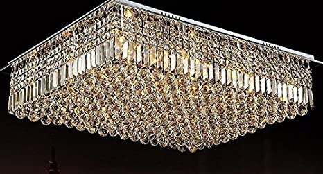 GOWE E14 Crystal lamparas de techo living room bedroom ceiling abajur 80X60cm AC85-260V Chandeliers Lustres de Light Cristal - - Amazon.com