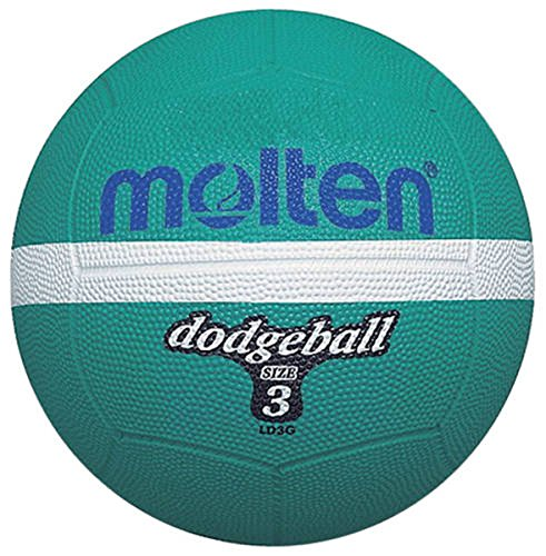 Molten Ld3g Dodgeball Sports Indoor/outdoor Match Playing Rubber Ball Size 3 by Molten