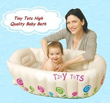 Amazon.com : Tiny Tots Baby Infant Travel Inflatable Bath Tub ...