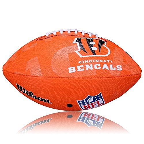 Wilson Adult Football - Wilson NFL Junior Team Logo Football (Cincinnati Bengals)
