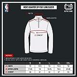 Ultra Game Men's NBA Quarter Zip Pullover Long
