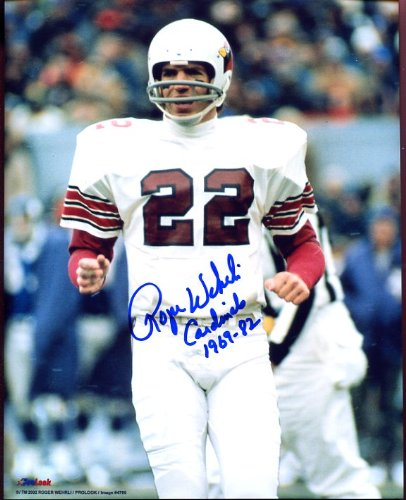 (Roger Wehrli (Football HOF) Autographed/ Original Signed 8x10 Color Photo with the St. Louis Cardinals Inscribed