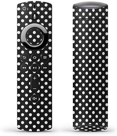 igsticker Fire TV Stick 第2世代 専用 リモコン用 全面 スキンシール フル 背面 側面 正面 ステッカー ケース 保護シール 009094 その他 シンプル 水玉 ドット 黒