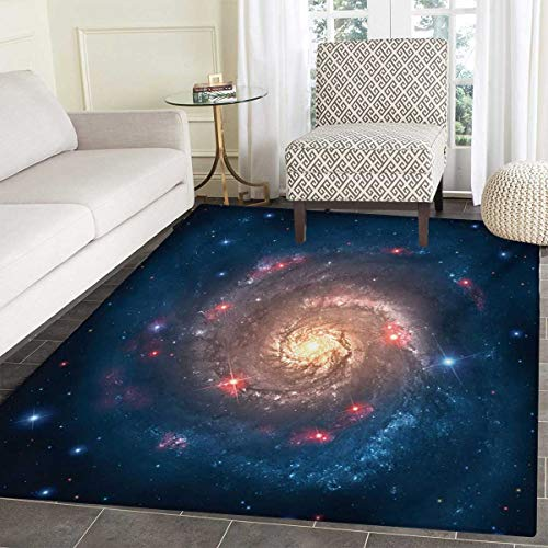 - Outer Space Door Mat Indoors Mystical Spiral Galaxy Expanse Beyond Milky Way Planet Astral Space Art Customize Bath Mat Non Slip Backing 36