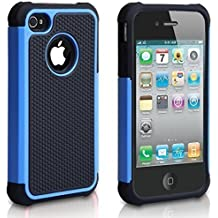 iPhone 5C Case, AUMIAU Hybrid Dual Layer Shock Absorbin Armor Defender Protective Case Cover (Hard Plastic with Soft Silicon) for Apple iPhone 5C-Blue