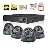 JOOAN TC-570DVR-4Y-A 4CH Digital Video Recorder CCTV Security Camera System Surveillance Video Recorder with Night Vision