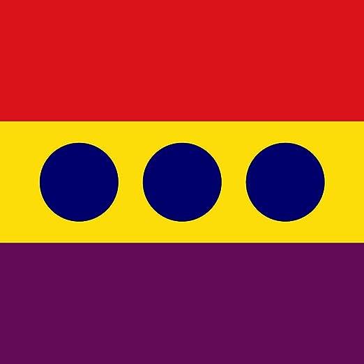 magFlags Bandera Large Marina de Guerra de la República Española | 1.35m² | 120x120cm: Amazon.es: Jardín