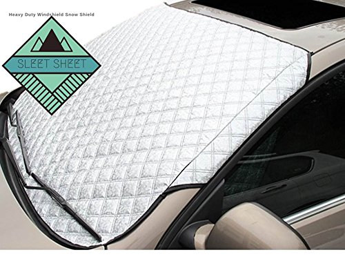 Price comparison product image Snow Windshield Cover : Snow Frost and Ice Proof Windshield Screen for any Car Truck Or Van : Scratch-Free Extra Thick (72x57)