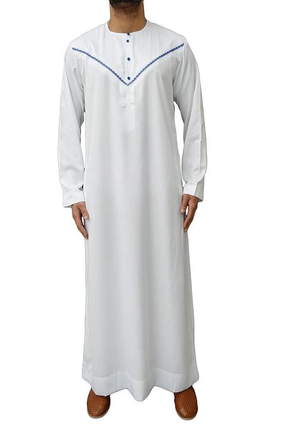 Hommes dernier Al Noor designer label jubba caftan haut dishdash thobe  riyal omanais arabe robe jabbah c30d6da2339