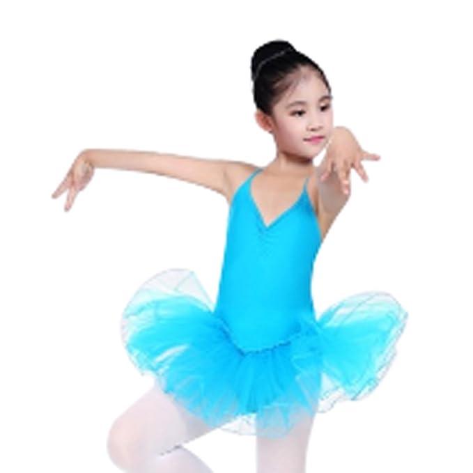 c8a2a9497 Huicai Vestido de Leotardo Danza de Ballet Falda de Tutú Gimnástico ...