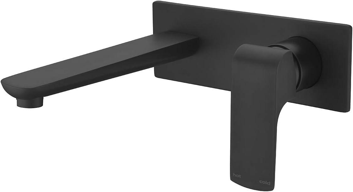 Square Basin Mixer Shower Valve Kitchen Sink Tap Faucet Bathtub Spout Arm Black