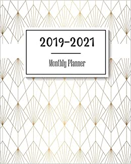 2019-2021 Monthly Planner: Gold Abstract Cover, 36 Months ...