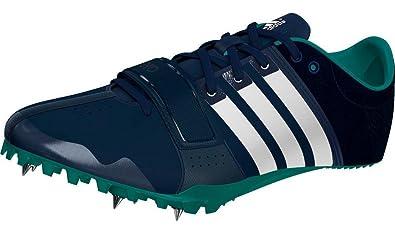 adidas Adizero Accelerator Running Spike Trainer Shoe Navy Blue - US 9