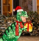 Pre-lit Animated Lighted Shimmering Glittering T-rex Dinosaur Christmas Outdoor Yard Decoration