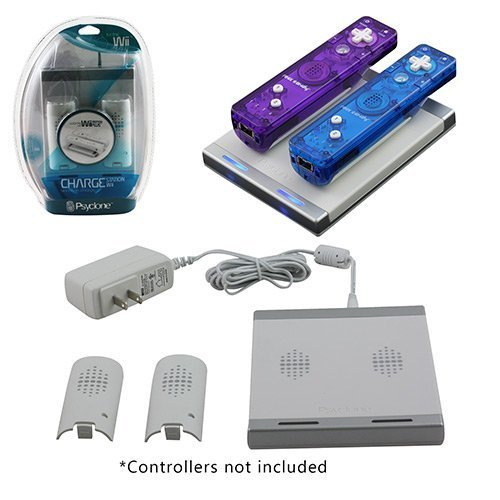 Wii - Charger - Dual Charge Station - With Two Batteries - Compatible With Motion Plus - White (psyclone) - 842892014006