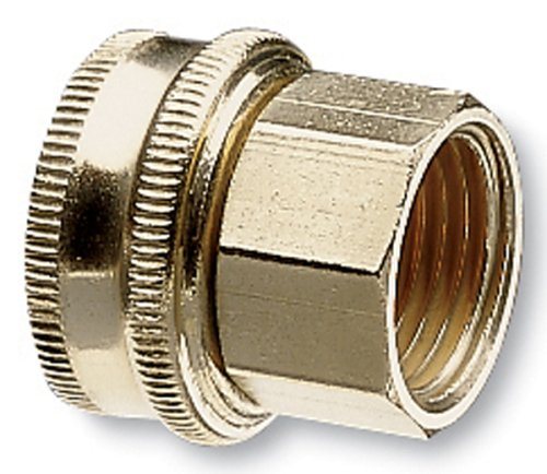 Nelson 855764-1001 Industrial Brass Pipe and Hose Fitting with One Swivel for 3/4-Inch Male NPS to Male Hose, Female