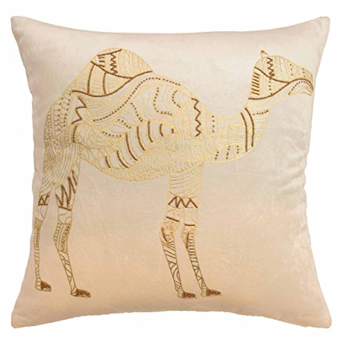 Camel Euro Comforter (Blissliving Home Blissliving Marrakesh Sabrine Beaded Decorative Pillow,Ivory,18x18)