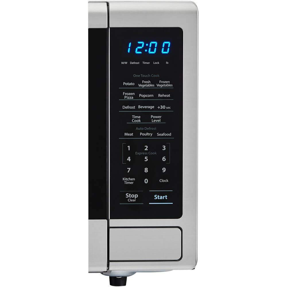 SHARP SMC1132CS Countertop Microwave 1.1 cu Capacity with 1000 Cooking Watts in Stainless Steel Renewed ft
