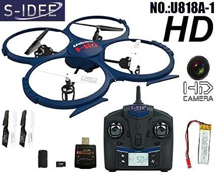 Idea S 01202| Quadcopter U818A 1Pro HD KAM 4.5canali 2,4GHz Quadrocopter UDI batteria Warner Testsieger RC telecomandato Elicottero/elicottero/heli con tecnologia giroscopica + tecnologia da 2,4GHz. Per Interno E Esterno nuovissimo con built-in GYRO e 2.4GHz comando. Pronto all' uso.