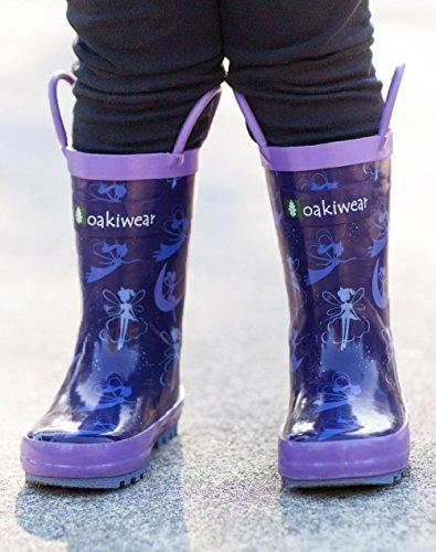Oakiwear Kids Rubber Rain Boots with Easy-On Handles, Fairy Dust, 1Y US Little Kid by Oakiwear (Image #5)'