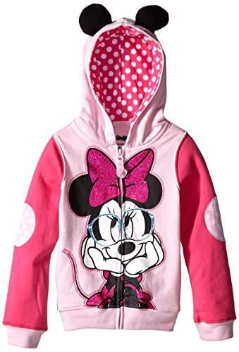 [Disney Little Girls' Minnie Mouse Costume Hoodie, Light Pink/Hot Pink, 5/6] (Little Girl Minnie Mouse Costumes)