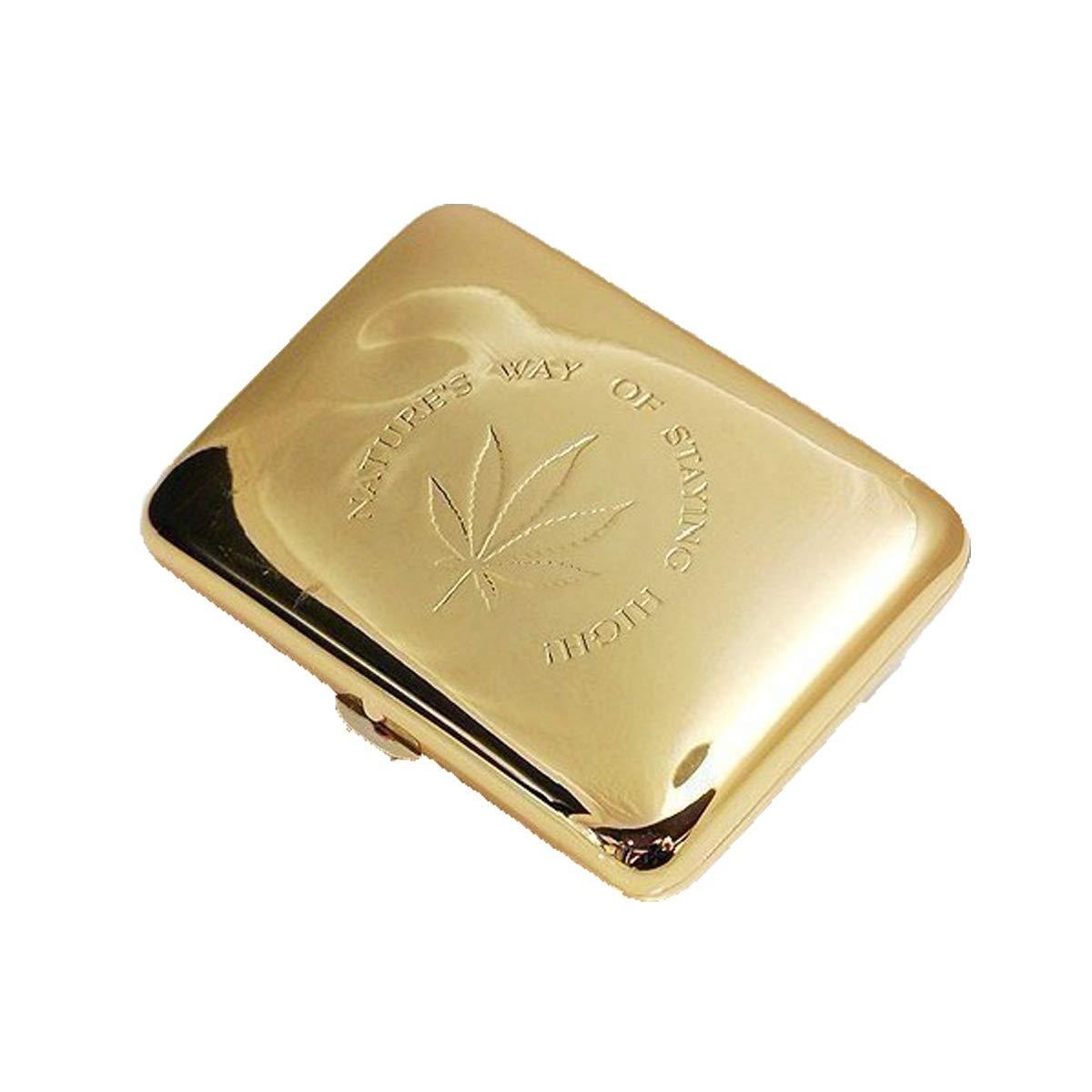 ZHONGYUE Cigarette Case, Portable Cigarette Case, Personalized Cigarette Box, Send Father Birthday Gift Unique Design, Sturdy and Lightweight. (Color : Yellow)
