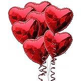 Pixnor 18 pollici cuore forma palloncini confezione da 10