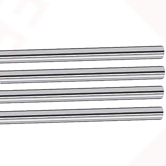 4 X Cylinder Linear Motion Rod Rail Shaft Optical Axis OD 8mm X 200mm-350mm New