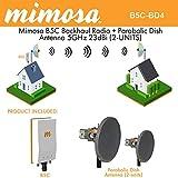 Mimosa B5C Backhaul GPS MIMO PoE + Parabolic Dish Antenna 5GHz 23dBi (2-UNITS)