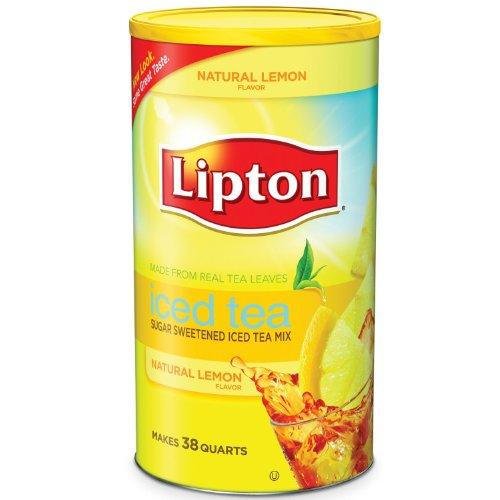 (Lipton Lemon Flavor Sugar Sweetened Iced Tea Mix 38 Quarts )