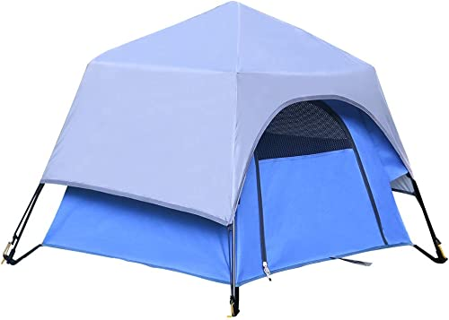 Yolafe Portable Pet Tent Cave Bed Playpen Kennel with Innovative Instant Setup Centre Hub Design Ideal for Camping with Cats and Dogs