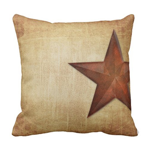 Emvency Throw Pillow Cover Rustic Barn Star Decorative