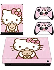 Adventure Games - XBOX ONE X - Hello Kitty - Vinyl Console Skin Decal Sticker + 2 Controller Skins Set