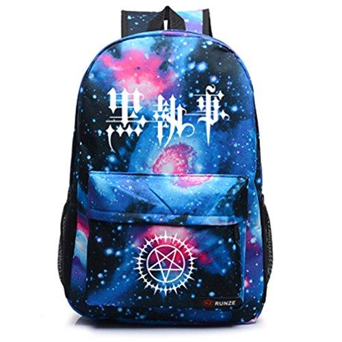 Siawasey Anime Black Butler Cosplay Backpack Daypack Bookbag Shoulder Bag Laptop School Bag (Kuroshitsuji Volume)