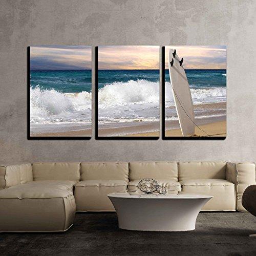 Surfboard on Fuerteventura Beach x3 Panels