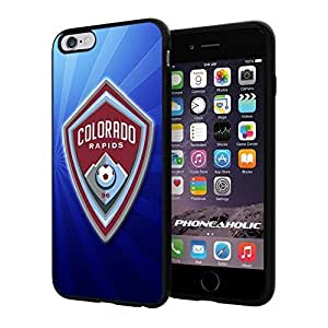 diy zhengSoccer MLS Colorado Rapids FC LOGO SOCCER FOOTBALL, Cool iphone 5/5s Smartphone Case Cover Collector iphone TPU Rubber Case Black