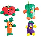GIGGLING VEGGIES Toys for Dogs Soft Vegetable Themed Dog Toy That Giggles NEW!(Full Set – All 4 Toys !)