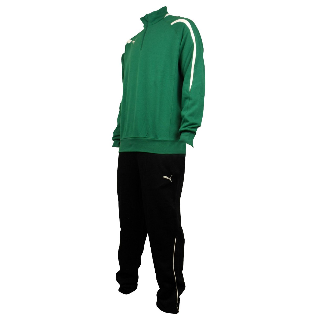 93d75803a223 Puma Men Powercat 5.10 Cotton Fleece Full Jogging Suit Tracksuit Black  Green XXL  Amazon.co.uk  Clothing