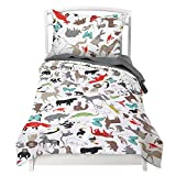 Twin Animal Duvet Cover Set with 1 Pillowcase for Kids Bedding - Double Brushed Microfiber by Where The Polka Dots Roam (68