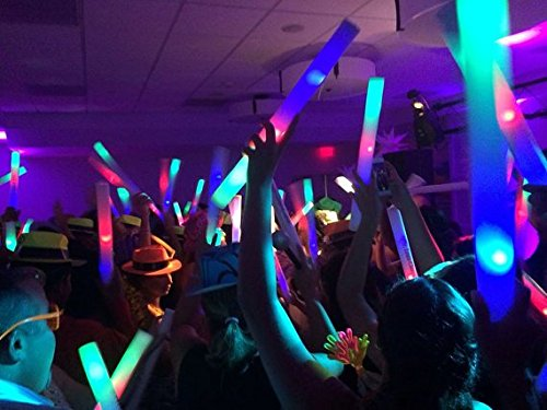 Personalized 16'' Custom Multicolor LED Foam Sticks, Customize the LED Glow Sticks with your own text or logo for a memorable celebration, 100 Pcs, Six Mode Lighting by Promotional Party Sticks (Image #7)