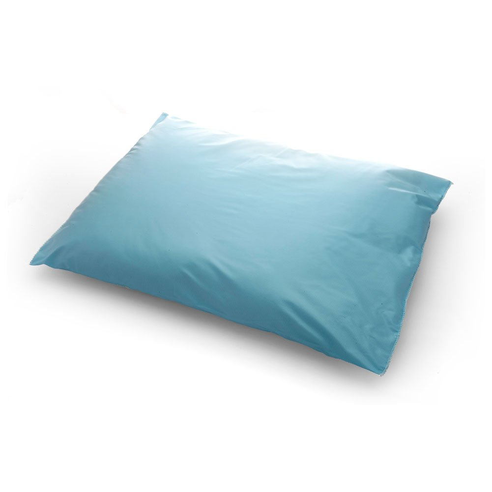 MediChoice Pillow, Reusable, Vinyl Ticking Cover, 17 Ounce Polyester Fiber Fill, 18 x 22 Inch, Blue, 1314089RP20 (Case of 12)