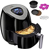 Cheap Euhomy Air Fryer – 3.7Qt, 1500W – Comes with Recipes & CookBook & 6Pcs Air Fryer Accessories- Touch Screen Control – Easy to Clean