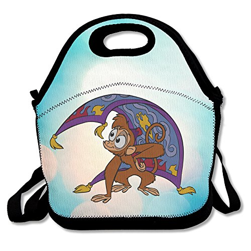 Bakeiy Aladdin Monkey Lunch Tote Bag Lunch Box Neoprene Tote For Kids And Adults For Travel And Picnic School