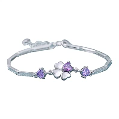 Bracelets Jewellery & Watches Ladies Silver Fashion Bracelet Pretty And Colorful