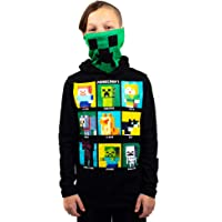 Youth Boys Minecraft Video Game Black Hooded Sweatshirt & Gaiter